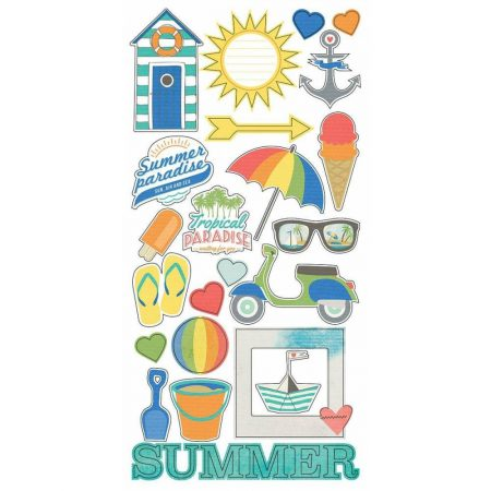 6028 S.PARADISE STICKERS 6x12 FUNDAMENTALS SIMPLE STORIES