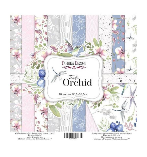 PAPEL DOBLE CARA SCRAPBOOKING SET TENDER ORCHID- 12X 12 - FABRIKA DECORU