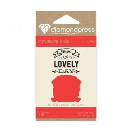 Diamond Press - Mini stamp and die Lovely Day