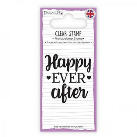 Dovecraft Clear Sentiment Stamp - Happy Ever After