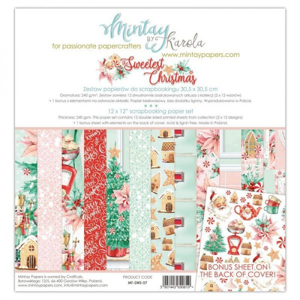 COLECCIÓN PAPELES 30X30 THE SWEETEST CHRISTMAS. MINTAY BY KAROLA